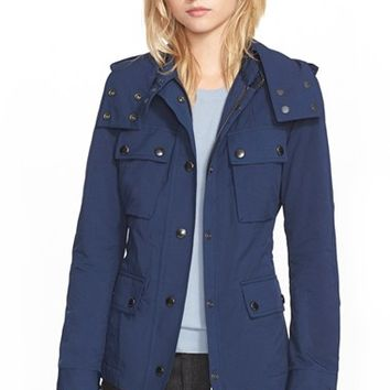 Women's Burberry Brit 'Fenbridge' Utility Jacket with Detachable Hood,