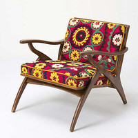 Anthropologie - Inge Chair, Vintage Suzani