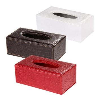 Crocodile Style  Tissue Box Cover Home PU Leather Napkin Paper Holder Case High Quality For Kitchen/Bedroom  Tissue Case