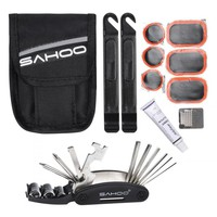 SAHOO 16 In 1 Multi Bicycle Repair Tools MTB Road Bike Tools BMX Cycling Cycle Tire Repair Tools Kits Sets Accessories