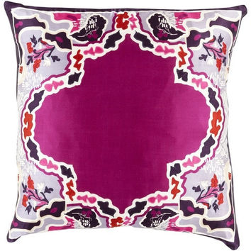 Geisha Silk Pillow Magenta