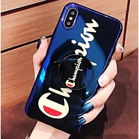 Champion Fashion New Letter Print Mobile Phone Case Cover Protective Case Blue
