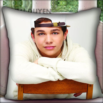 Sexy Cute AUSTIN MAHONE - Pillow Cover Pillow Case and Decorated Pillow.