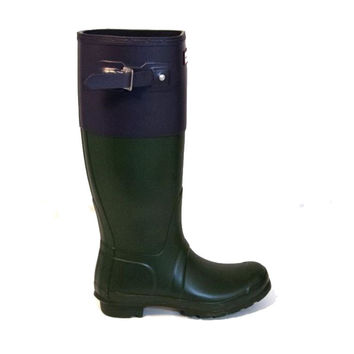 Hunter Original Colorblock Tall Rain Boot - Green