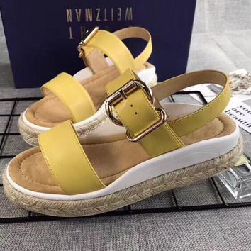 Stuart Weitzman Women Fashion Casual Sandals Shoes