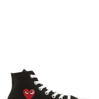 Comme Des Garons Play Black Heart Logo Converse Edition High-top Sneakers