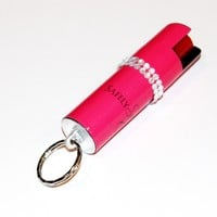 Hot Pink Rhinestone Pepper Spray - Polka Dot Cloud