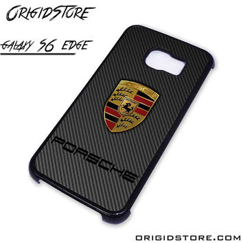 porsche logo For Samsung Cases Phone Covers Phone Cases Samsung Galaxy S6 Edge Case Samsung Galaxy S6 Edge Case Smartphone Case