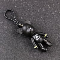 Fashion Personality fashion doll toy PVC bears Limbs can move car keychain key chain key ring keyring key holder model gifts