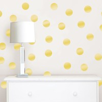 Gold Confetti Dot Decals