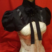 Black victorian evening shrug by blackmirrordesign on Etsy