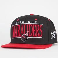 Rocksmith Marauders Mens Snapback Hat Black/Red One Size For Men 21161312601