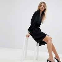 Y.A.S Wrap Dress With Sports Cuff at asos.com