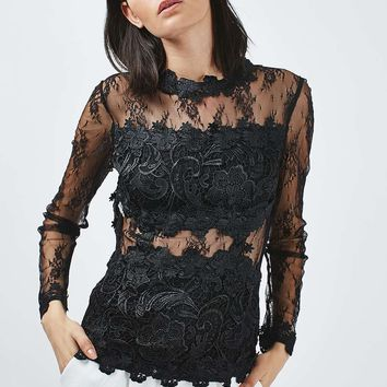 TALL Lace Shell Top - Topshop
