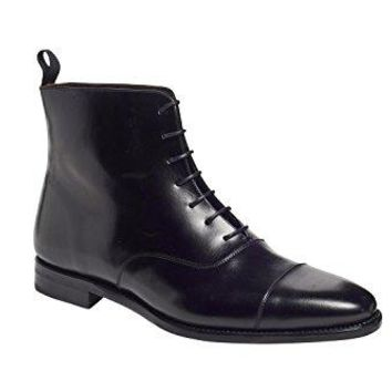 Anthony Veer HWC Texas Cap-Toe Oxford Leather mens boots in Goodyear Welted Construction