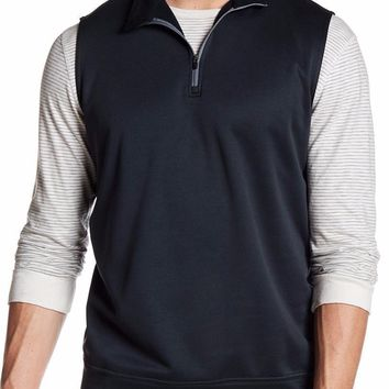 New with Tag - Peter Millar E4 Warmth Meade Black 1/4 Zip Men's Vest