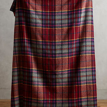 Avoca Plaid Lambswool Throw