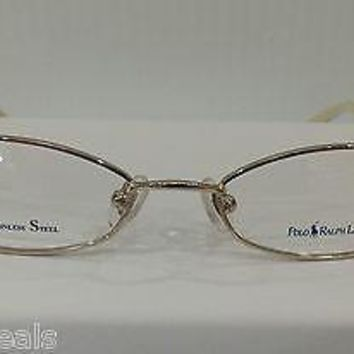 NEW AUTHENTIC POLO RALPH LAUREN 396 COL 18S GOLD METAL KIDS EYEGLASSES FRAME