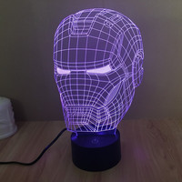 Iron Man Helmet 3D Night Light