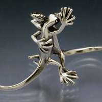 Waltzing Lizards Micro Sculpture by SheppardHillDesigns on Etsy