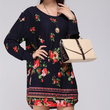 plus size women 2018 new spring fashion Hoodies & Sweatshirts casual pullover print large loose big size tunic clothing