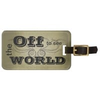 Old World Vintage Luggage Tag