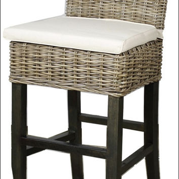 Bermuda Bar Stool, Kubu Gray