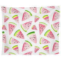 Watercolor Watermelon Tapestry
