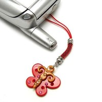 Cellphone Charm 053 18 Butterfly Red