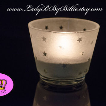 Star Candle Holder - Tea-light and Holder - Etched By Hand
