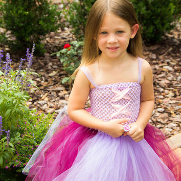 Princess Rapunzel Inspired purple and pink Tutu Dress, 6 months-5T, Halloween Costume, Dress up Play, Photo Shoot, Birthday, Disney Trip