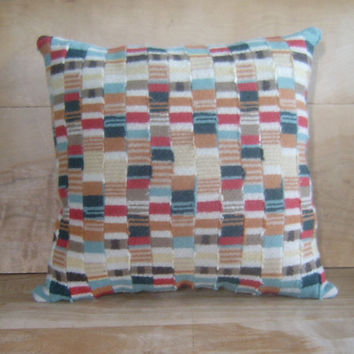 Pendleton Wool Quilted Pillow 15x15 by RobinCottage on Etsy