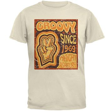 Milestone Birthday Groovy Since 1969 Haight Ashbury Mens T Shirt