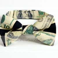 Boy's Bow Tie, Newborn, Baby, Child- Green, Black, Money, Toma's Tutus and Things