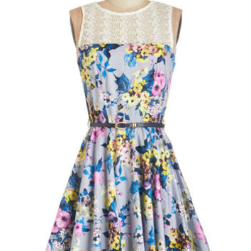 Sleeveless A-line Bloom for More Dress