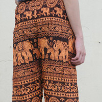Elephant pant harem bohemian style tropical summer beach wear yoga style light weight pant women and men free size