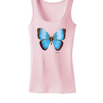 Morpho Butterfly 3D Womens Tank Top Shirt