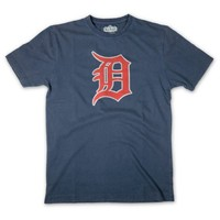 Detroit Tigers Brass Tacks Logo T-Shirt By Red Jacket