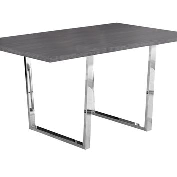"Dining Table - 36""X 60"" / Grey / Chrome Metal"