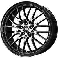 "Konig Lace Black Wheel with Machined Face (17x7""/5x100mm)"