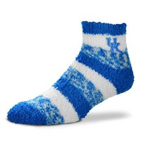 KENTUCKY WILDCATS SOFT SLEEP WOMEN'S SOCKS BRAND NEW FOR BARE FEET