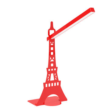 Desk  Rotatable table LED  Lamp USB  charging  touch lamp  Paris tower Red