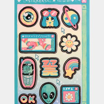 MILKBBI sticker sheet