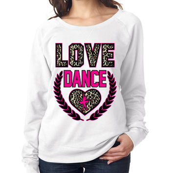 Love Dance Leopard Womens long sleeve Pullover