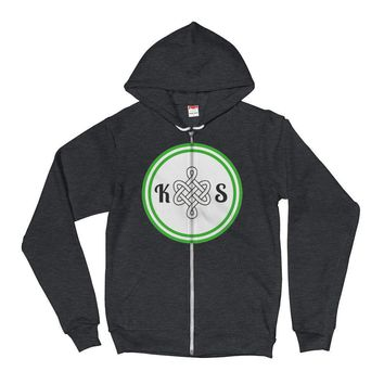 Front Logo Zip-Up Hoodie Sweater
