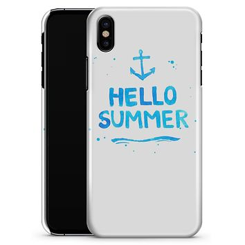 Hello Summer Blue Watercolor Anchor V1 - iPhone X Clipit Case