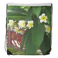 Plumeria Exotique Cinch Bags