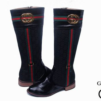 One-nice™ GUCCI Fashion Leather High Boot Heels Shoes