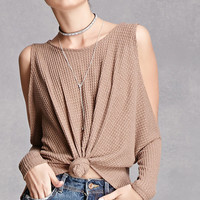 Knotted Open-Shoulder Top