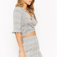 Glen Plaid Ruffle Top & Skirt Set